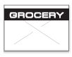 GX1812 White/Black Grocery Labels for a 18-6 Labeler