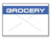 GX1812 White/Blue Grocery Labels for a 18-6 Labeler - 1812-03370
