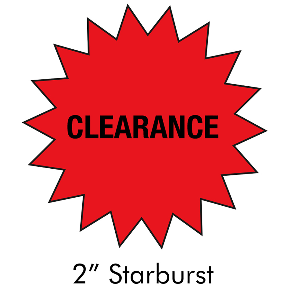"2"" Starburst Clearance Label"