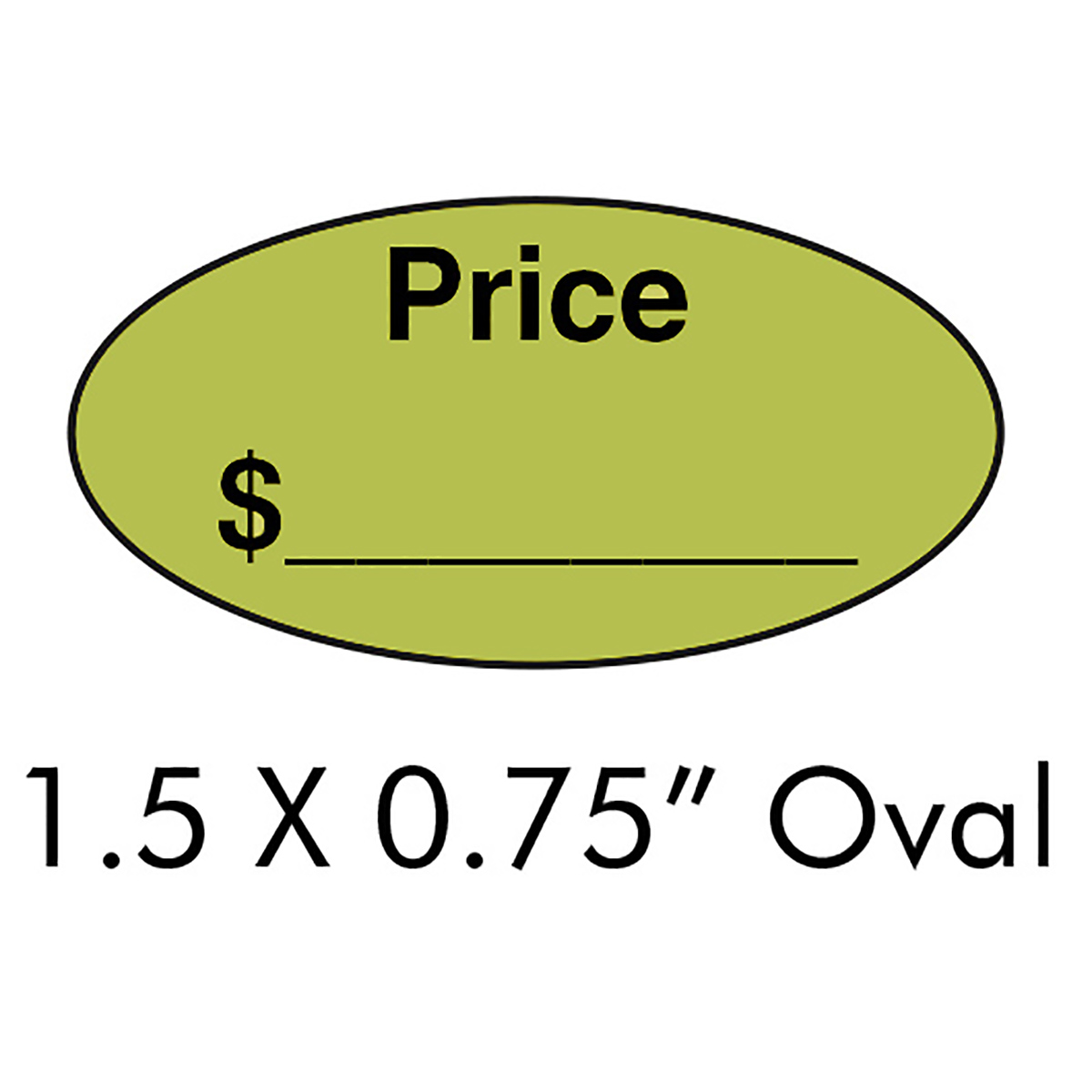 "1.5"" x .75"" Oval Price Label"
