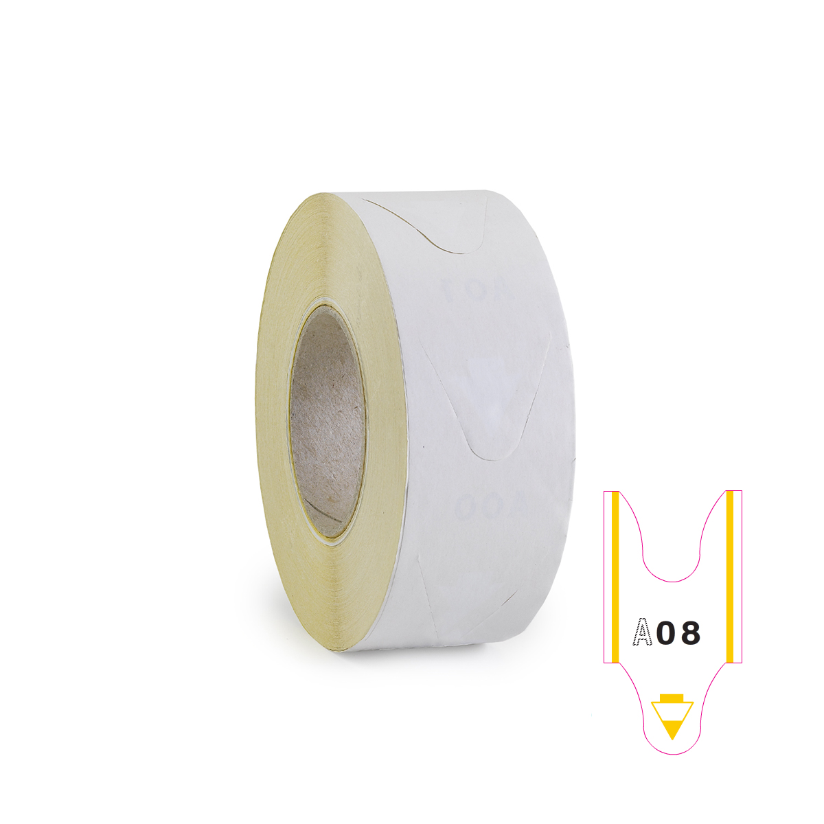 Take a Number Ticket - Yellow Stripe - 2000/Roll - TAGS-12004