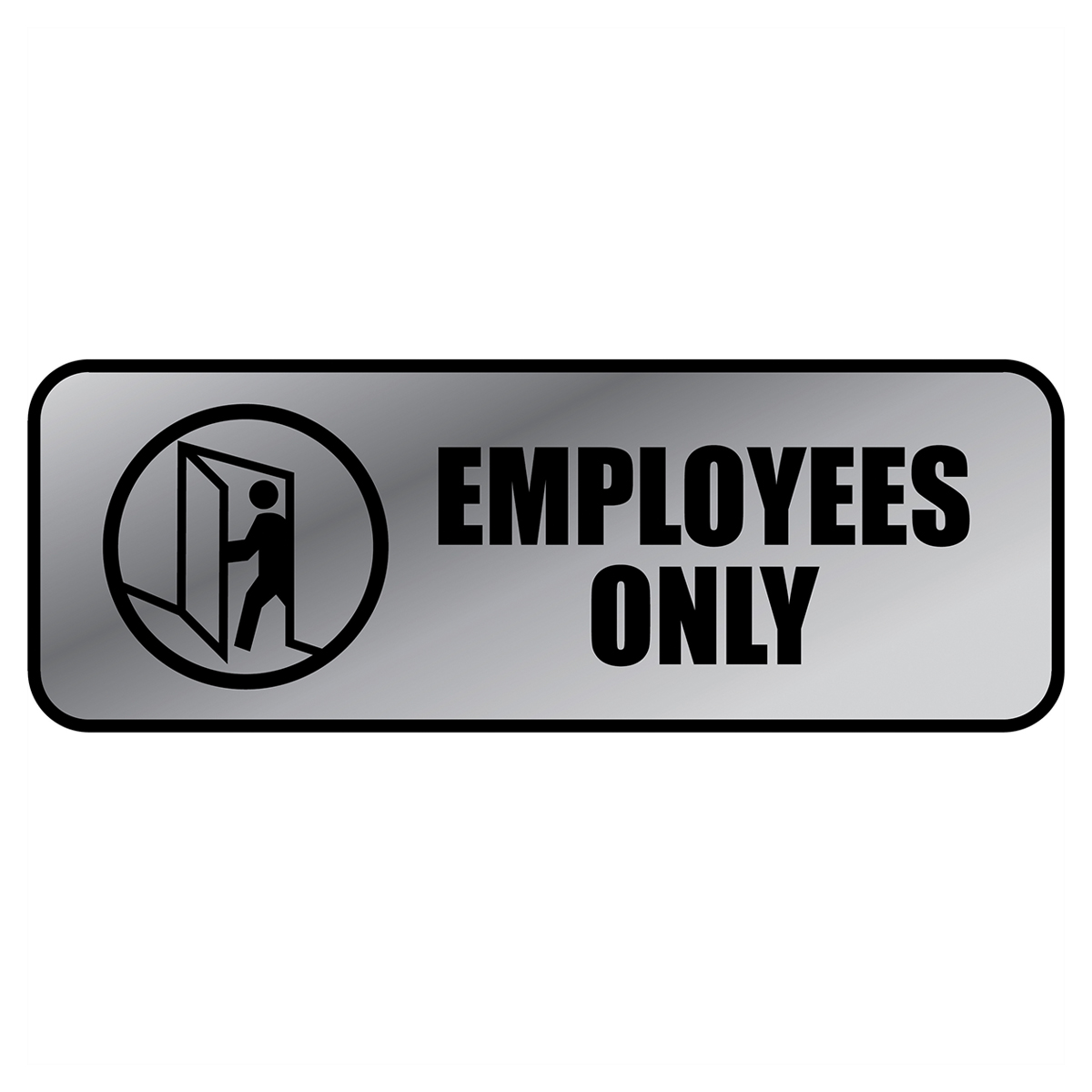 EMPLOYEES ONLY - Metal Sign - 098206
