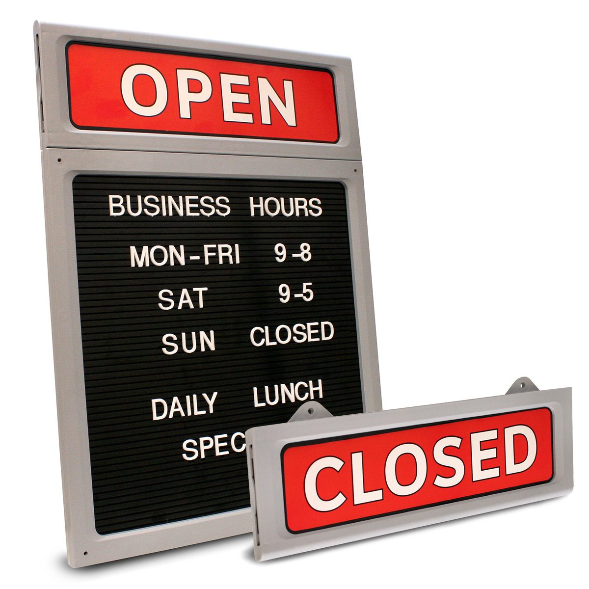 Upscale Business Hours OPEN|CLOSED Message Sign-098221