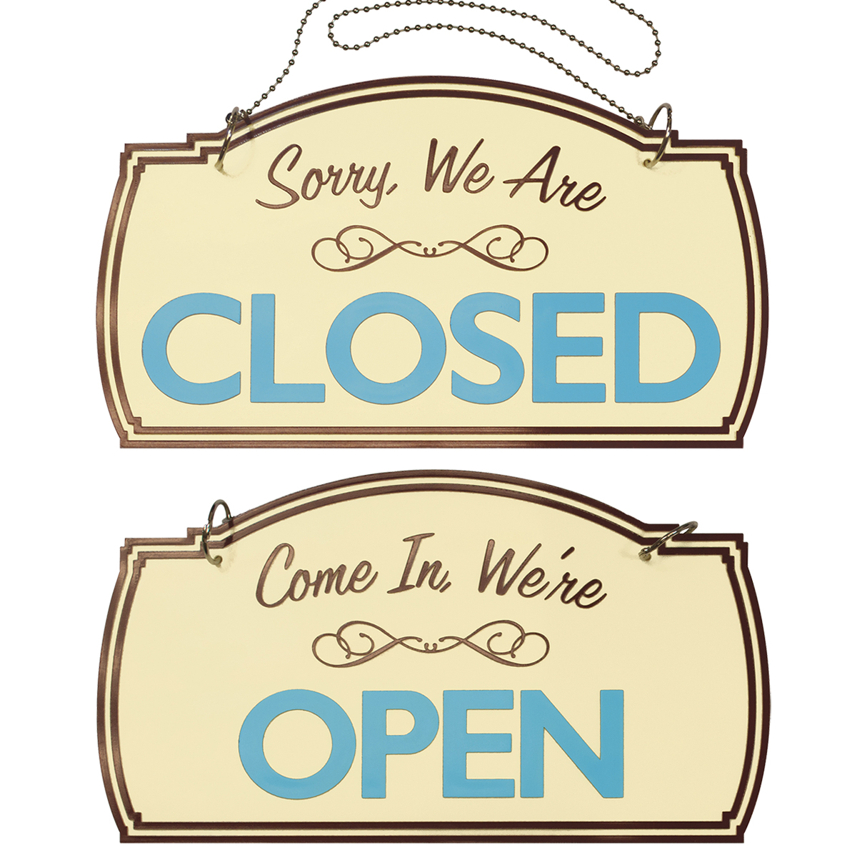 OPEN|CLOSED Boutique Style Sign